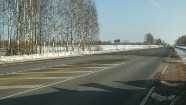 Отремонтированный участок трассы М-9 Балтия