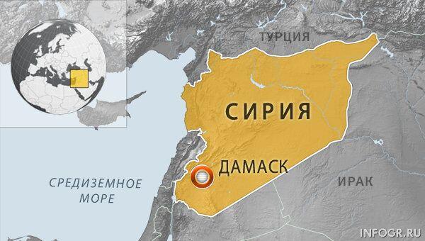 Дамаск, Сирия. Карта