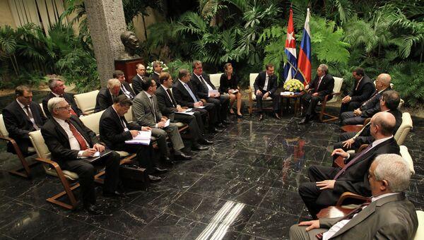 Рабочий взит Д.Медведева на Кубу