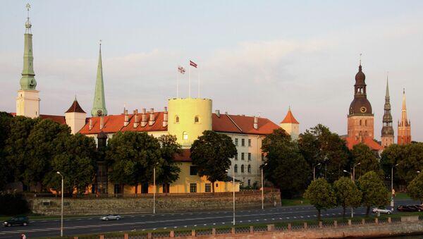 Вид на Президентский замок в Риге. Архивное фото