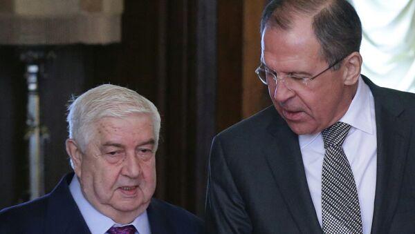 Встреча глав МИД России и Сирийской Арабской Республики
