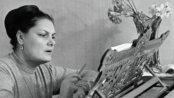 Солистка ГАБТ СССР, певица Лариса Авдеева
