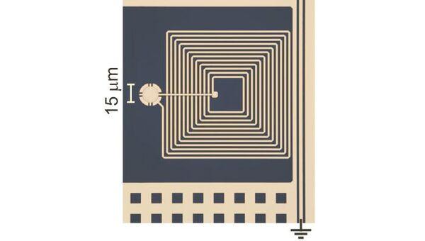 """Квантовый """"барабан"""" и подключенный к нему микроволновый резонатор"""