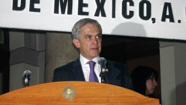 Мэр Мехико Мигель Анхель Мансера. Архивное фото