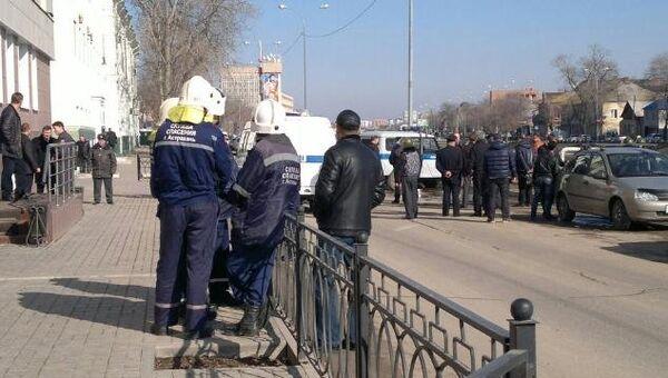 Полиция на месте захвата заложников в Астрахани