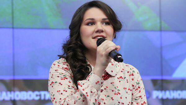 Дина Гарипова на пресс-конференции в РИА Новости