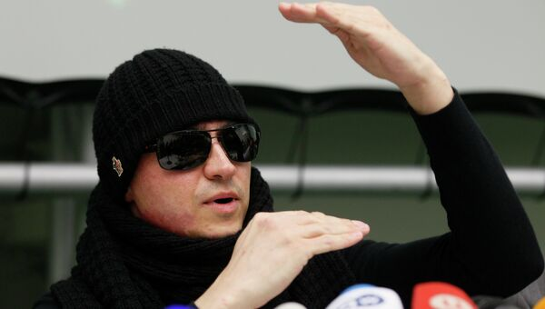 Сергей Филин на пресс-конференции в Аахене