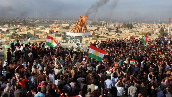 Празднование Навруза в Иракском Курдистане, архивное фото