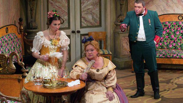Сцена из спектакля Ревизор в постановке Малого театра