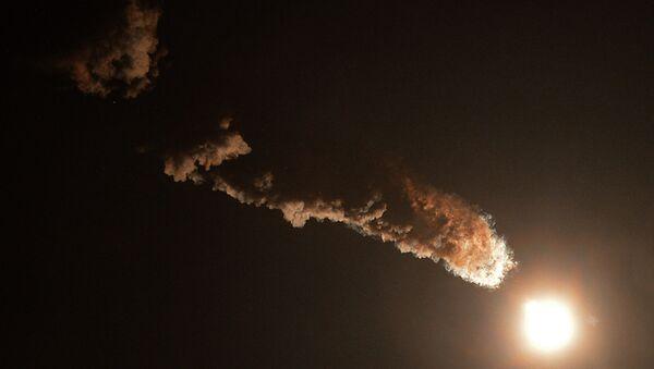 Старт ракеты-носителя Союз. Архивное фото