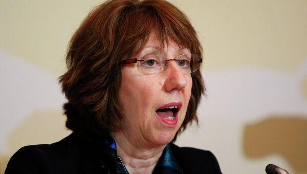 Верховный представитель ЕС по иностранным делам Кэтрин Эштон на переговорах шестерки с Ираном в Алма-Ате
