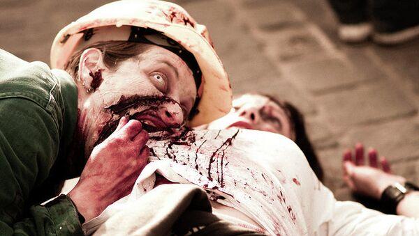 Парад зомби в Брюсселе