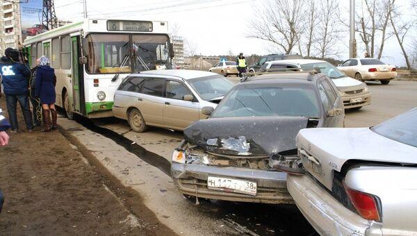 Крупное ДТП в Иркутске
