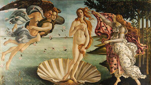 Картина Рождение Венеры Сандро Ботичелли