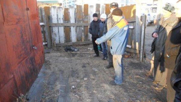 Следственный эксперимент с участием подозреваемого в изнасиловании и убийстве 9-летней девочки в Забайкальском крае