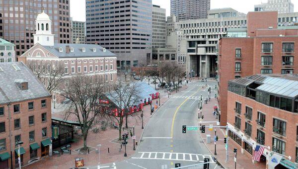 Опустевшие улицы Бостона