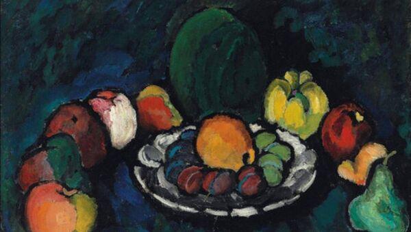 Илья Машков. Натюрморт с фруктами. 1910 год