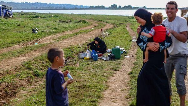Сирийские беженцы . Архивное фото