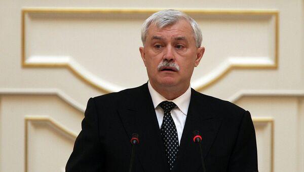 Губернатор Санкт-Петербурга Георгий Полтавченко в городском парламенте