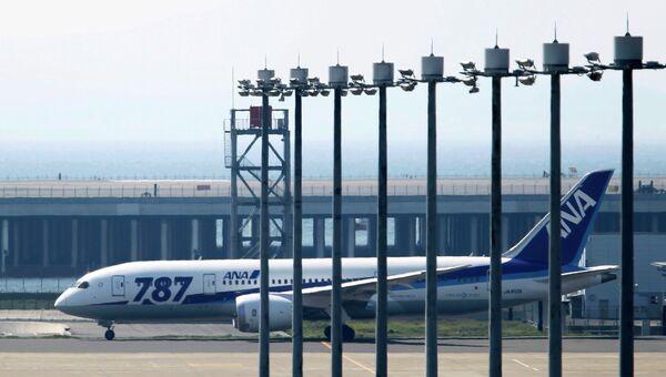 Первый тестовый полет авиалайнера Boeing-787 Dreamliner в Токио