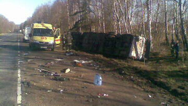 В Калужской области автобус столкнулся с фурой
