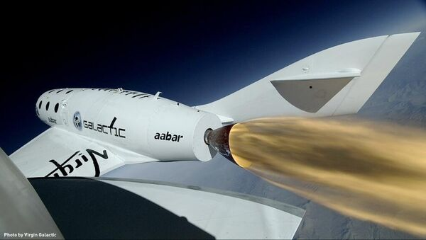 Корабль SpaceShipTwo в полете. Архивное фото