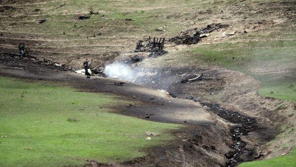 Самолет военно-воздушных сил США потерпел крушение в Киргизии