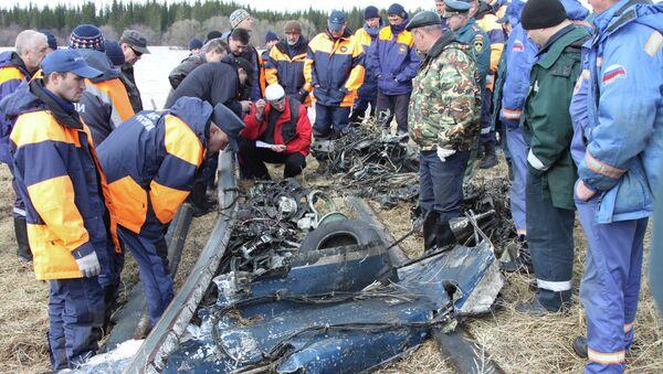 Найдены элементы кабины и шасси потерпевшего катастрофу вертолета Ми-8