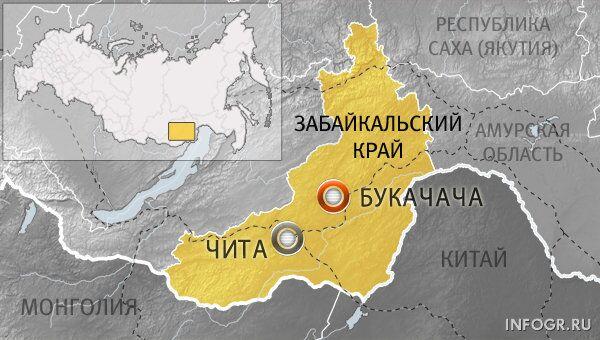 Забайкальский край, поселок Букачача