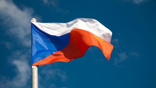 Флаг Чехии, архивное фото