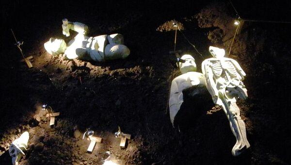 Экспонаты выставки Гриши Брускина Коллекция археолога в Ударнике