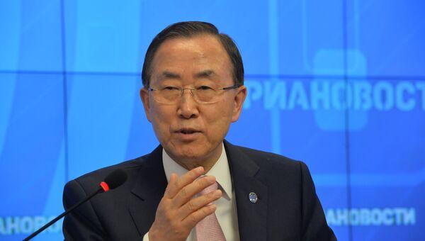 Генеральный секретарь ООН Пан Ги Мун. Архив
