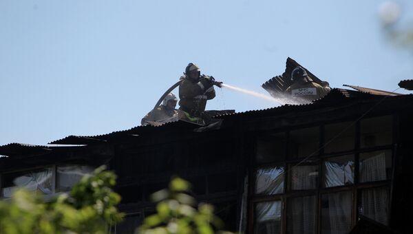 Пожар в жилом доме в центре Сочи