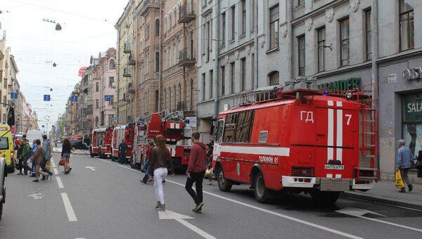 Пожар в Петроградском районе Санкт-Петербурга