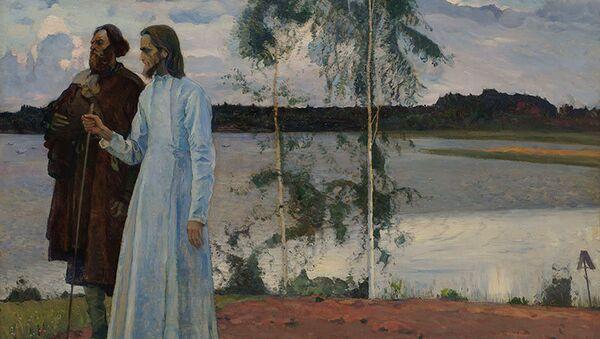 Михаил Нестеров Странники. За Волгой 1922