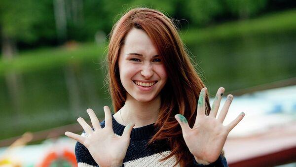 Александра Усольцева, студентка Строгановского училища