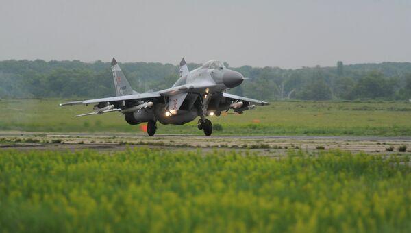 Истребитель МиГ-29 СМТ во время учений по проверке боеготовности. Архивное фото