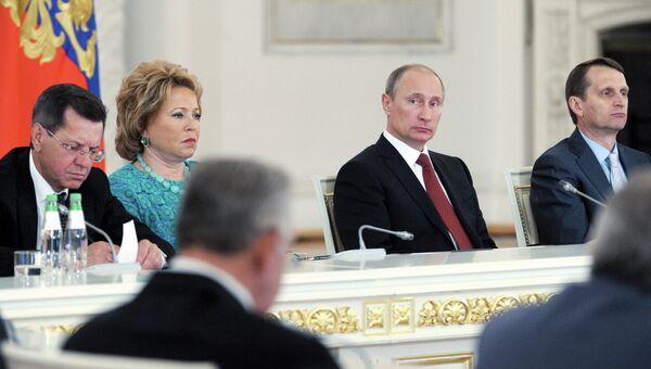 Президент РФ В.Путин провел заседание Госсовета в Кремле