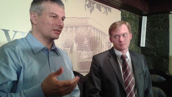 Председатель Новосибирской городской коллегии адвокатов Александр Балян и адвокат Максим Рожков