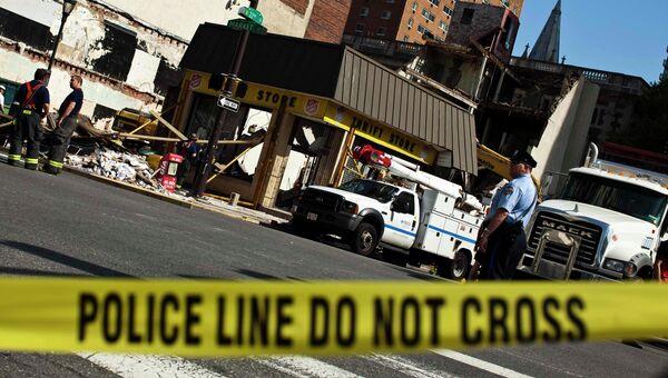 Обрушение здания в деловом районе Филадельфии