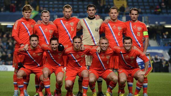 Футболисты сборной России по футболу. Архивное фото