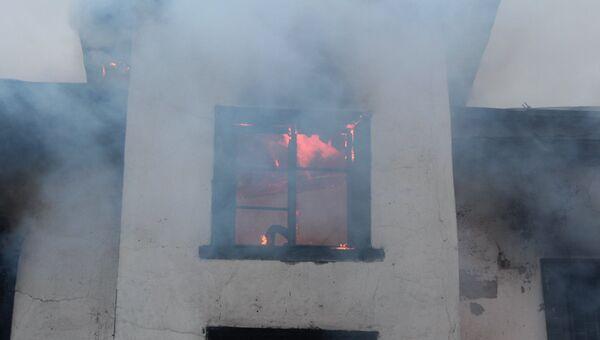 Пожар в доме на Петроградской стороне в Петербурге