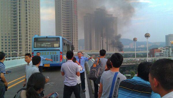 Поджог автобуса в Китае