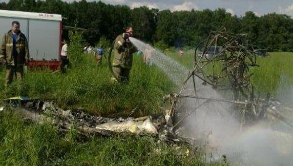 Легкомоторный самолет упал в Подмосковье