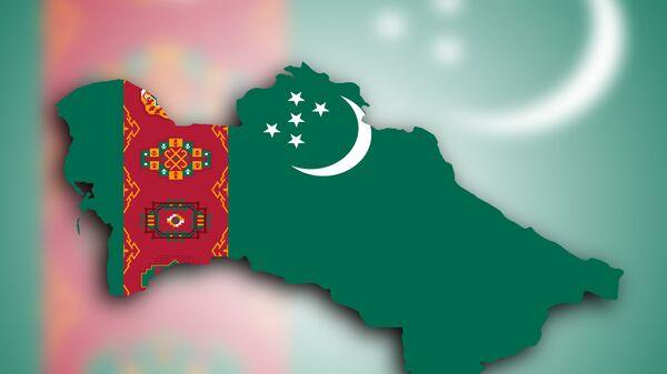 Флаг Туркмении, архивное фото