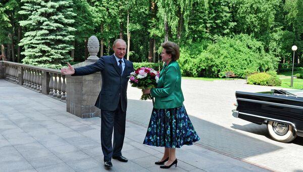 Встреча В.Путина с российскими космонавтами
