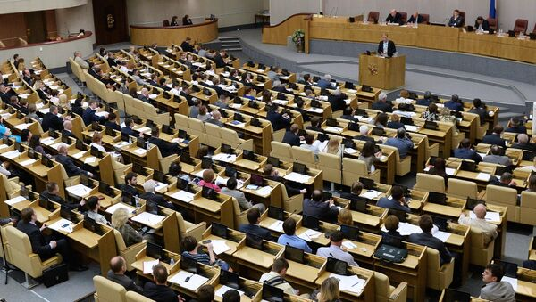 Парламентские слушания в Госдуме РФ, архивное фото