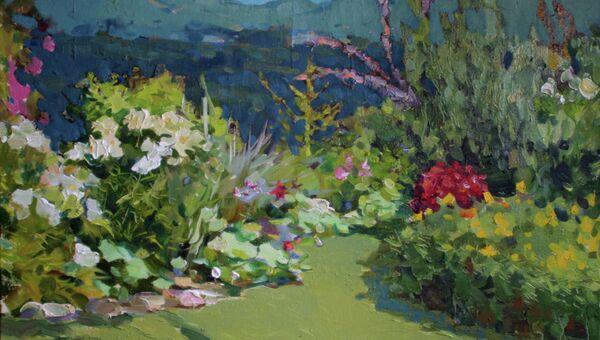 Картина Сад среди гор. Илья Изюмов