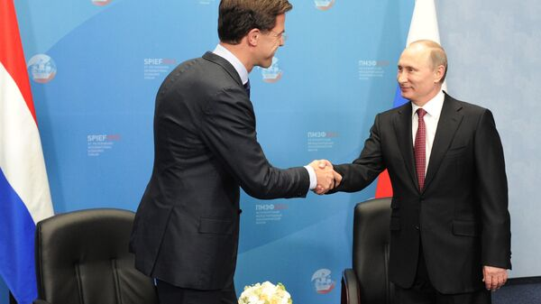 Встреча Владимира Путина и Марка Рютте в Санкт-Петербурге