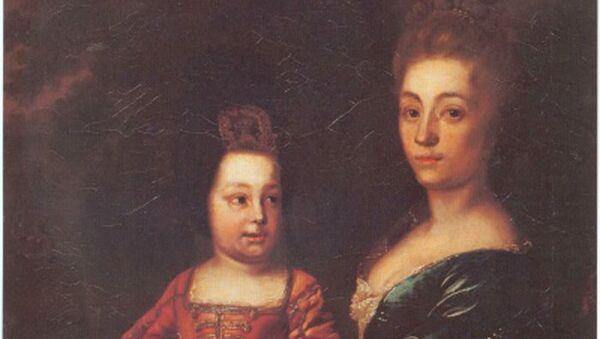 Иван VI с няней Юлией Менгден. Автор неизвестен